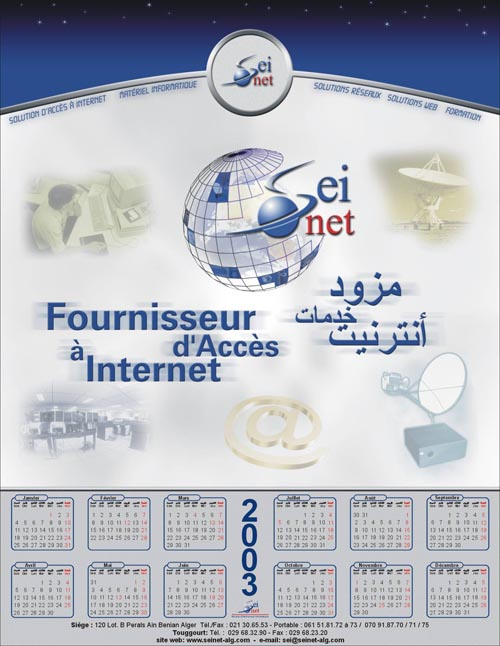 Calendrier poster Seinet